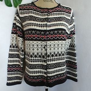 Emma James Fair Isle Cardigan Sweater